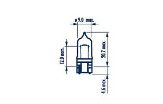 Лампа накаливания NARVA 70761 (фонарь указателя поворота, противотуманная фара, внутреннее освещение, стояночные огни / габаритные фонари)