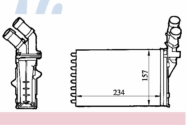 Радиатор отопителя NISSENS 71147