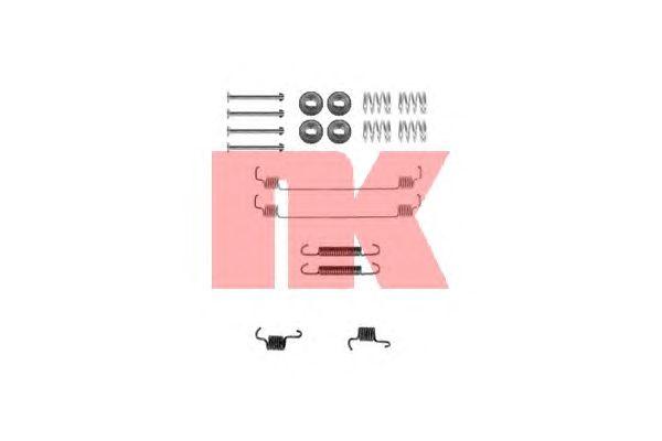 Монтажный комплект тормозных колодок NK 7939777