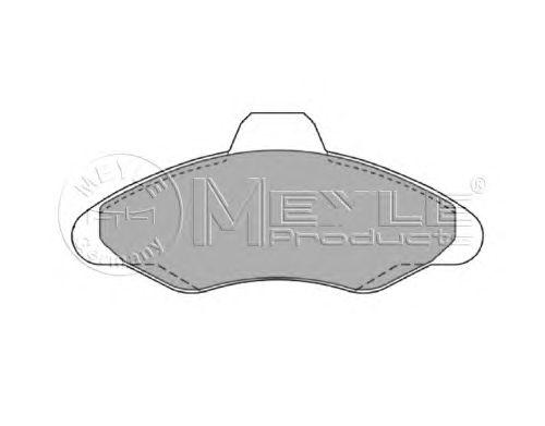 Тормозные колодки MEYLE 025 211 7118