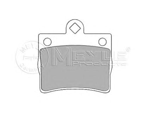 Тормозные колодки MEYLE 025 219 0015