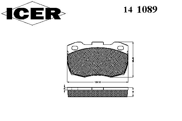 Тормозные колодки ICER 141089