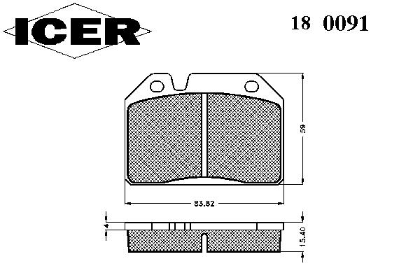 Тормозные колодки ICER 180091