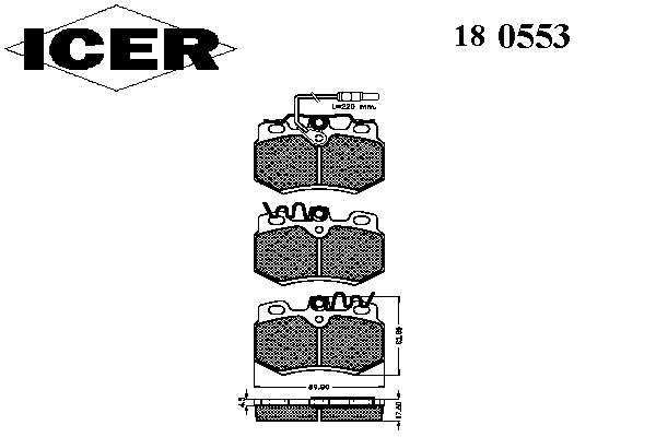 Тормозные колодки ICER 180553