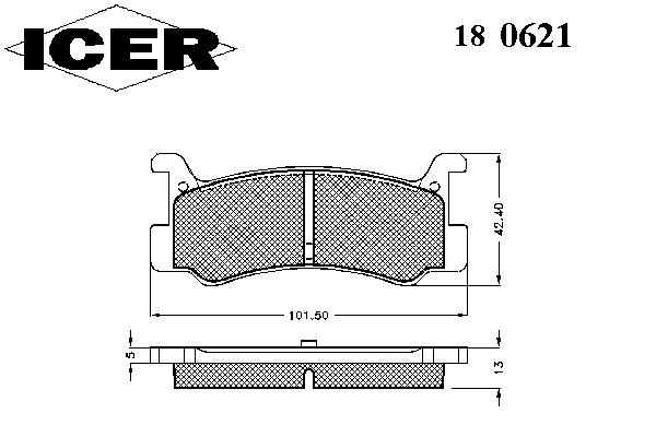 Тормозные колодки ICER 180621
