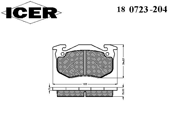 Тормозные колодки ICER 180723-204