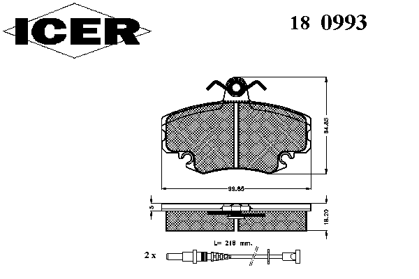 Тормозные колодки ICER 180993