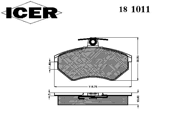 Тормозные колодки ICER 181011