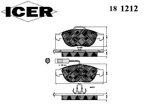 Тормозные колодки ICER 181212