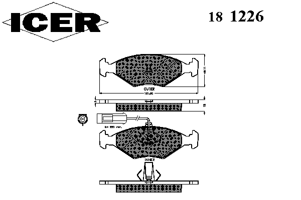 Тормозные колодки ICER 181226