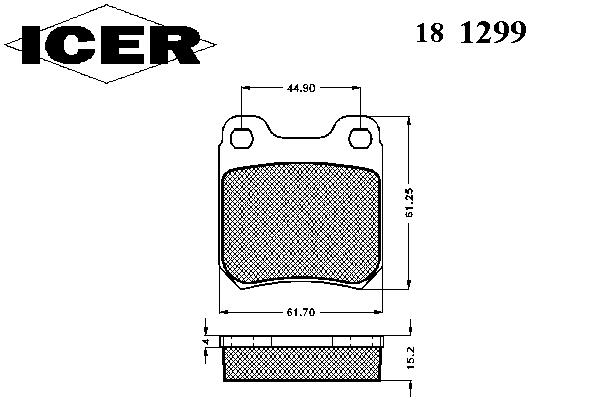 Тормозные колодки ICER 181299