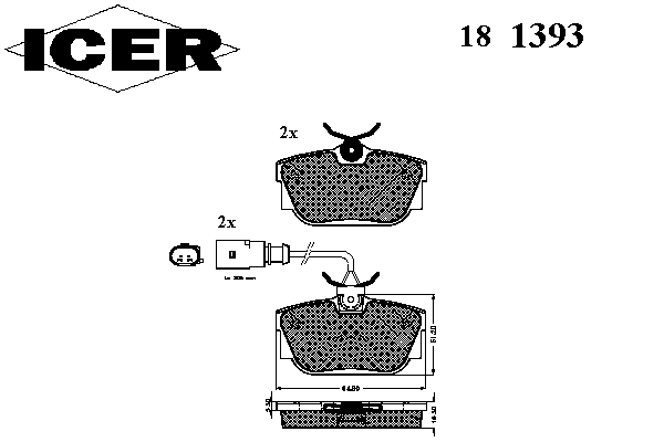 Тормозные колодки ICER 181393