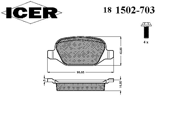 Тормозные колодки ICER 181502-703