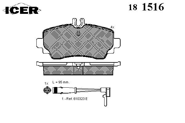 Тормозные колодки ICER 181516