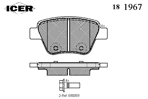 Тормозные колодки ICER 181967