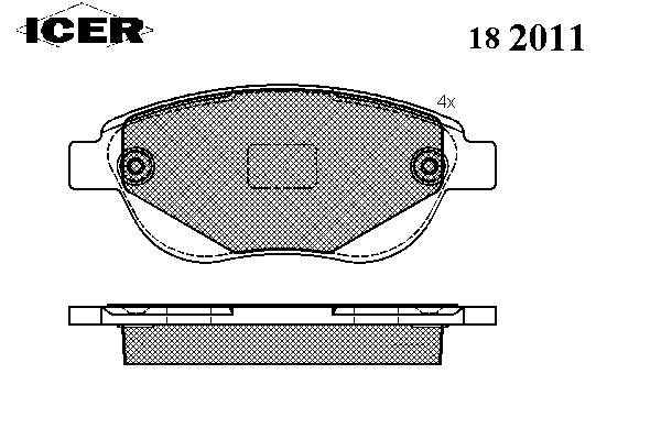 Тормозные колодки ICER 182011