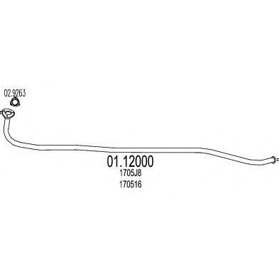 Труба выхлопного газа MTS 01.12000