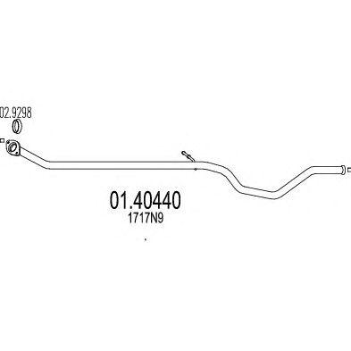 Труба выхлопного газа MTS 01.40440