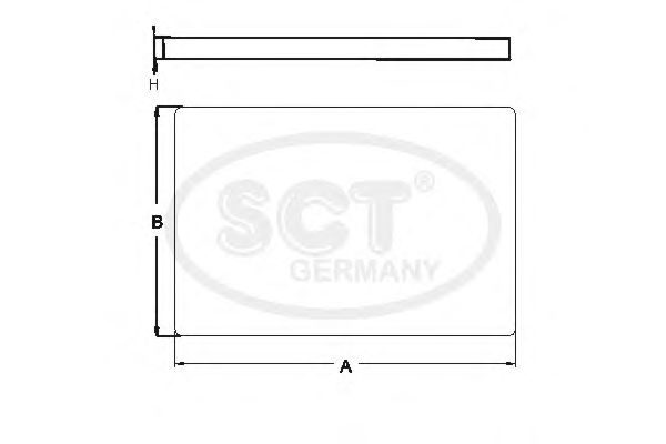 Фильтр салона SCT Germany SAK 205
