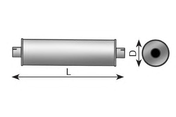 Средний / конечный глушитель ОГ DINEX 49311