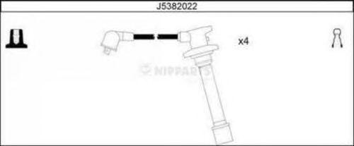Комплект высоковольтных проводов NIPPARTS J5382022