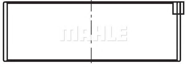 Шатунные вкладыши MAHLE ORIGINAL 029 PS 10722 025