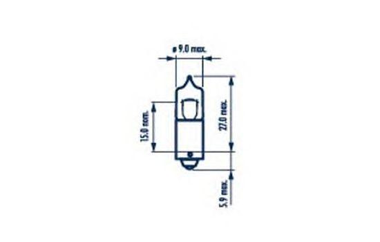 Лампа накаливания NARVA 17830 (внутреннее освещение, стояночные огни/габаритные фонари)