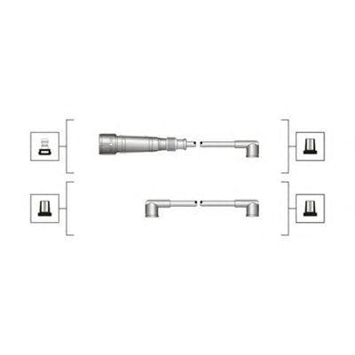 Комплект высоковольтных проводов MAGNETI MARELLI 941319170065