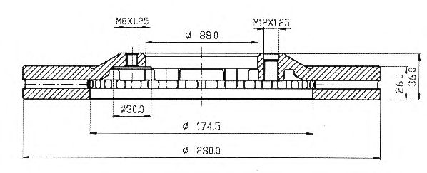 Тормозной диск QH International BDC4741