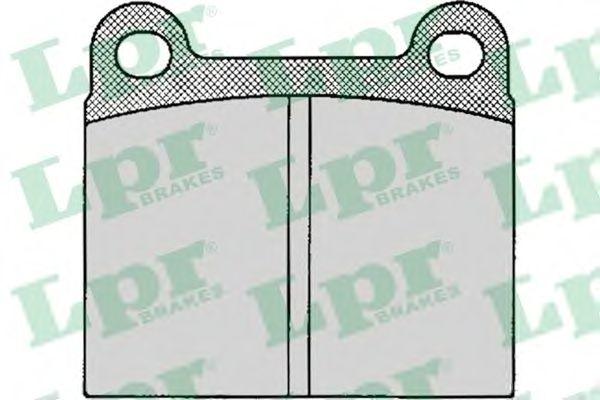 Тормозные колодки LPR 05P024