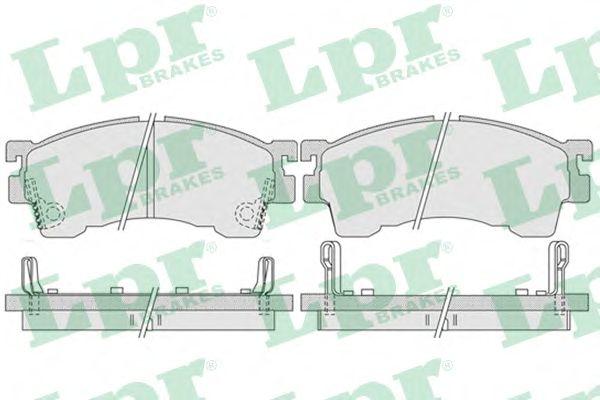 Тормозные колодки LPR 05P1017
