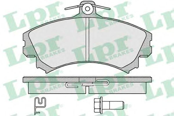 Тормозные колодки LPR 05P1221