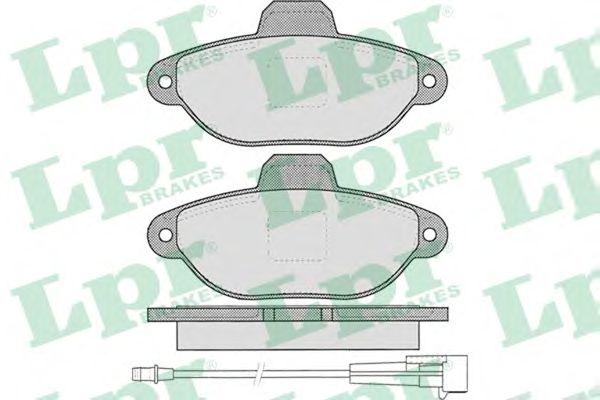 Тормозные колодки LPR 05P1262