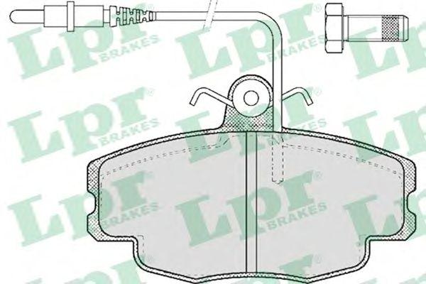 Тормозные колодки LPR 05P422