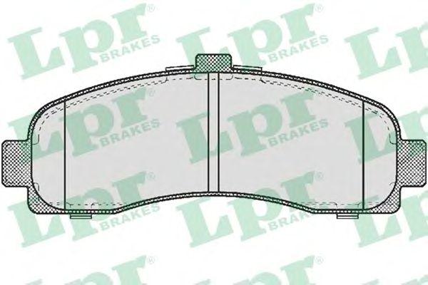 Тормозные колодки LPR 05P539