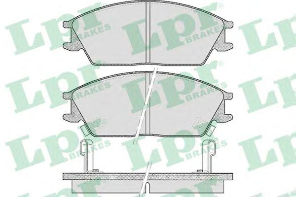 Тормозные колодки LPR 05P542