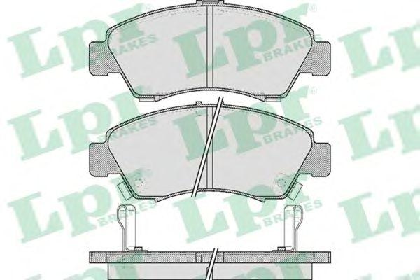 Тормозные колодки LPR 05P558