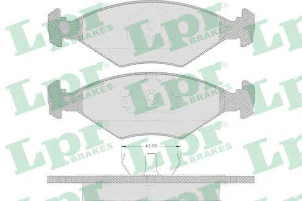 Тормозные колодки LPR 05P632