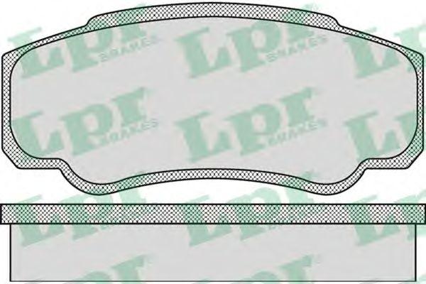 Тормозные колодки LPR 05P885