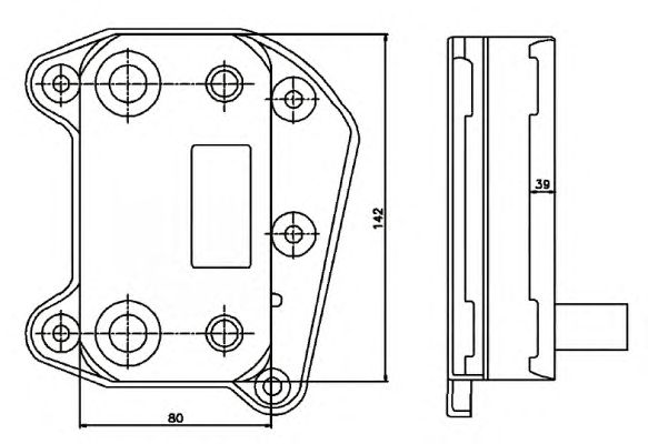 Масляный радиатор NRF 31183