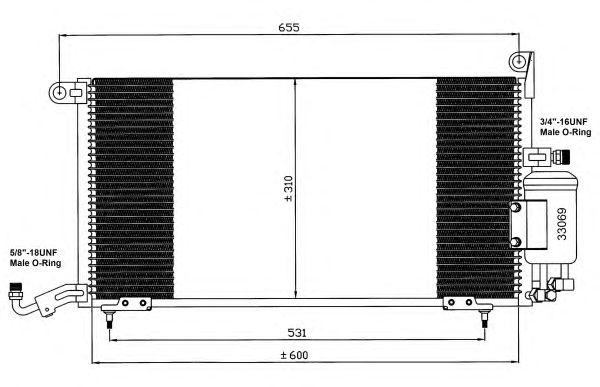 Радиатор кондиционера NRF 35035