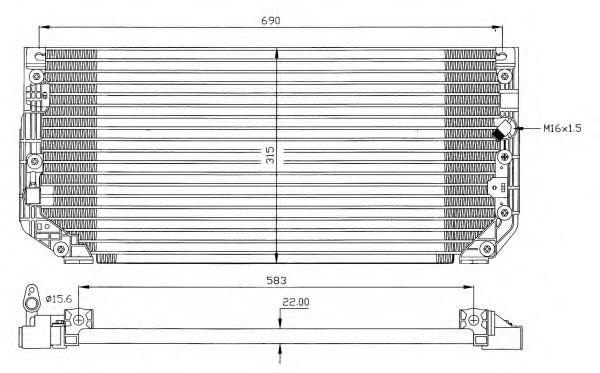Радиатор кондиционера NRF 35387