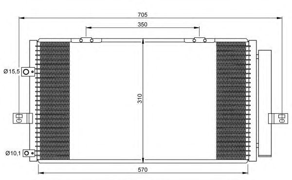 Радиатор кондиционера NRF 35659