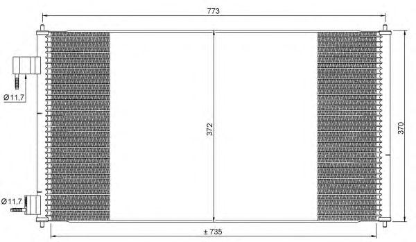 Радиатор кондиционера NRF 35681