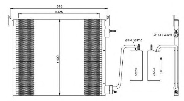 Радиатор кондиционера NRF 35741