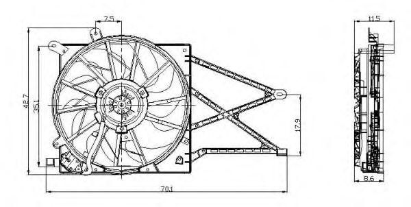 Вентилятор охлаждения NRF 47015
