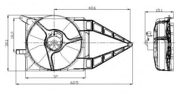 Вентилятор охлаждения NRF 47020