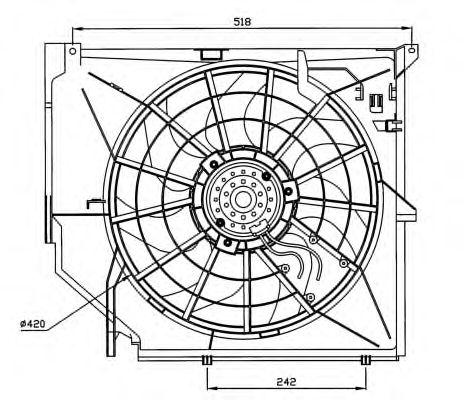 Вентилятор охлаждения NRF 47026