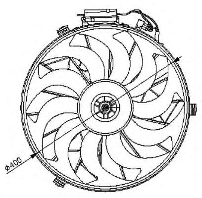 Вентилятор охлаждения NRF 47028