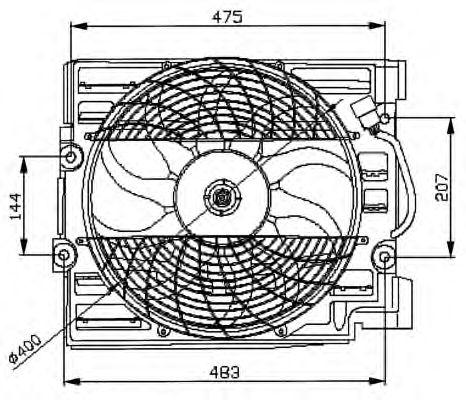Вентилятор охлаждения NRF 47029